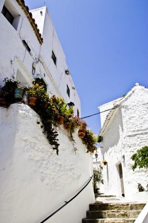 Beautyfull allée à Casares andalou un village typique espagnol Banque d'images
