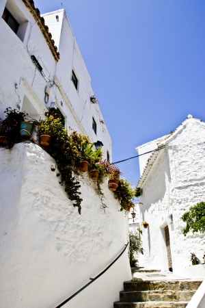 spanish village: Beautyfull alley in Casares  Andalucian  a typical spanish village