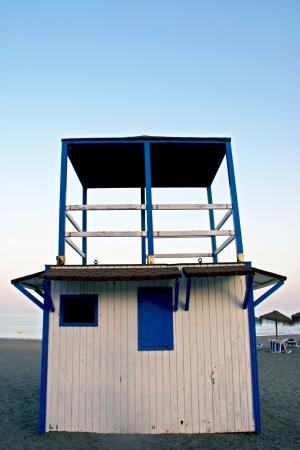 Lifeguard cabin in spanish coast