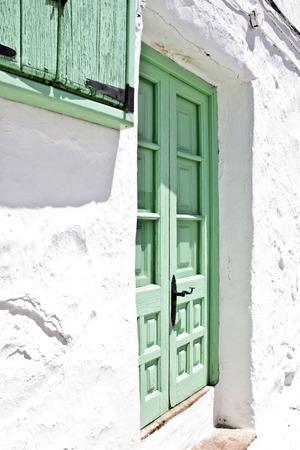 Vue d'un village espagnol andalou typique maison en été