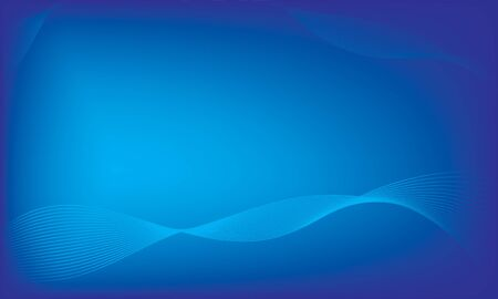 Blue abstract background, smooth wave blue background Çizim