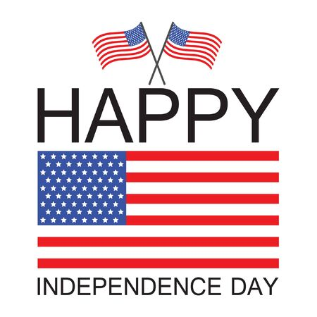 July 4th Independence Day United States Vector Illustration