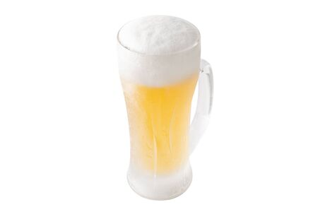 Image of a cut-out of beer poured into a mug