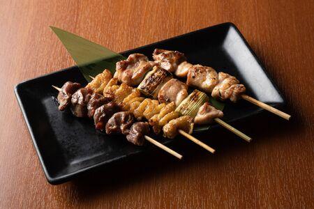 yakitori on a plate
