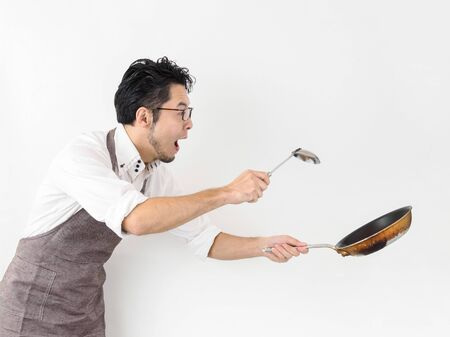 The image of a man who is eager to cook
