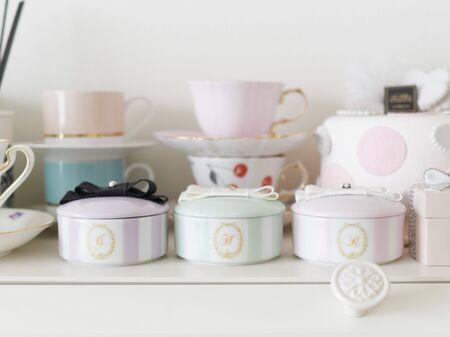 Handmade Porserats on shelves