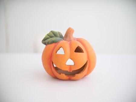Halloween pumpkin made of pottery