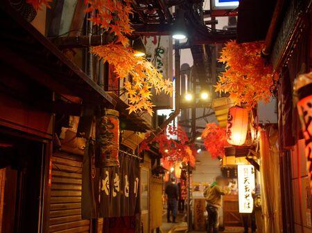 Shinjuku's Bar District Standard-Bild - 139608869