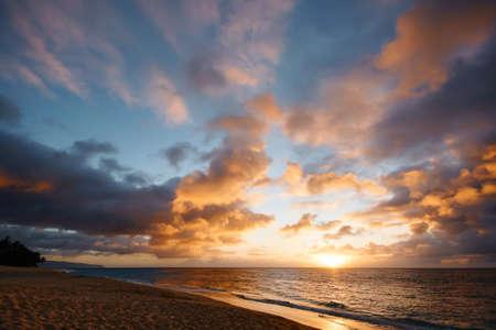 Sunset at Sunset Beach, Hawaii