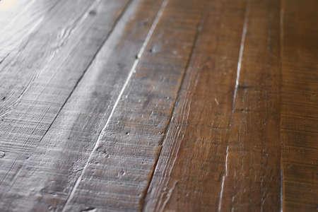 Close-up of brown wood-eye table Banco de Imagens