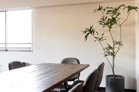 Wood Table Meeting Room