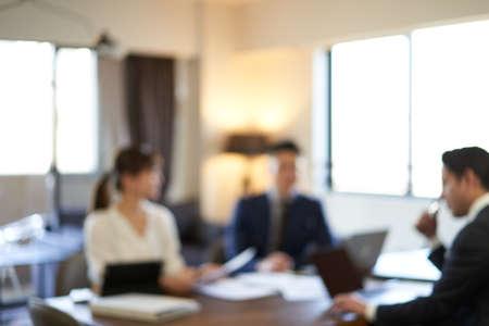 Blurred meeting scenes Banco de Imagens
