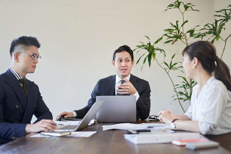 A business person meeting in a multinational company