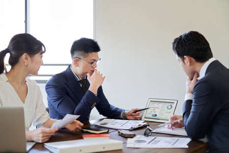 a business person who has a meeting about a business plan