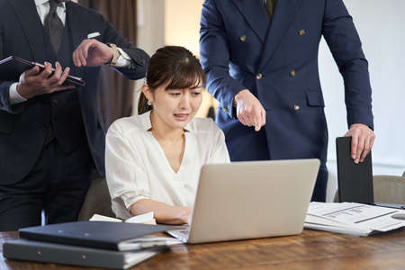 Asian businesswoman driven by work