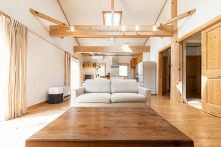 Living room of a house with a country-style design