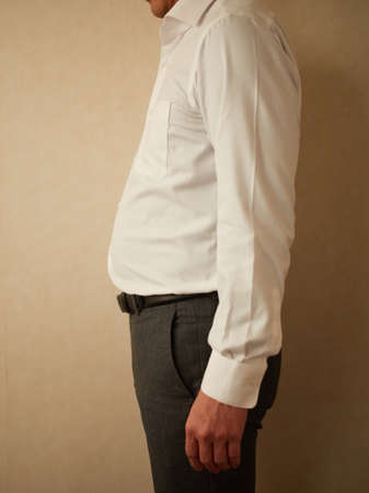 Asian man before diet taken by amateur