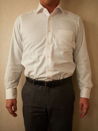 Asian man after diet taken by amateur Standard-Bild