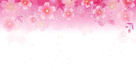Japanese cherry blossom background illustration