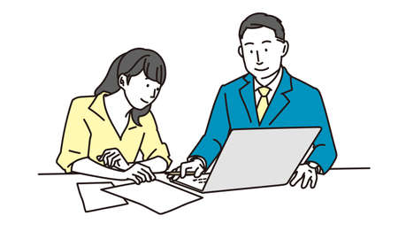 A business person meeting on a computer