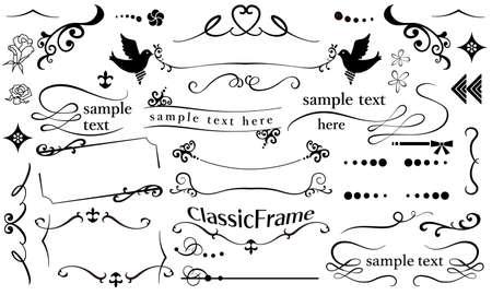 Stylish and stylish classic frame