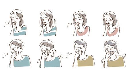 Cough Sneezing Person Illustration