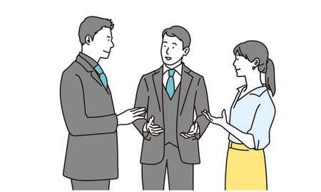 Business person talking Vektoros illusztráció