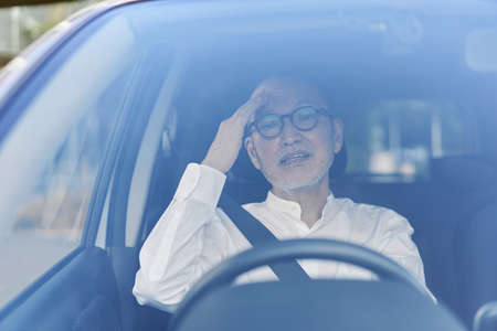 Elderly driver inadvertently causing trouble