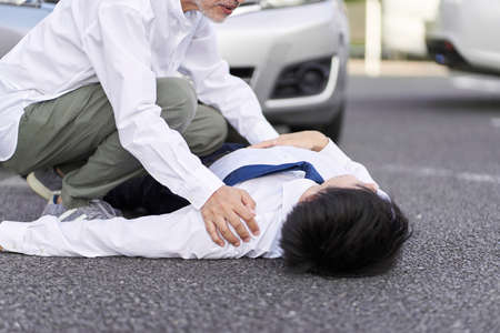 Elderly people who cause personal injury in a car