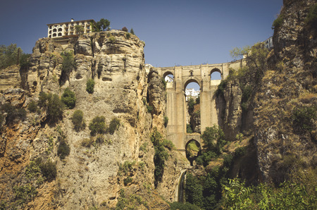 Puente Nuevo in the city of Ronda Stock Photo