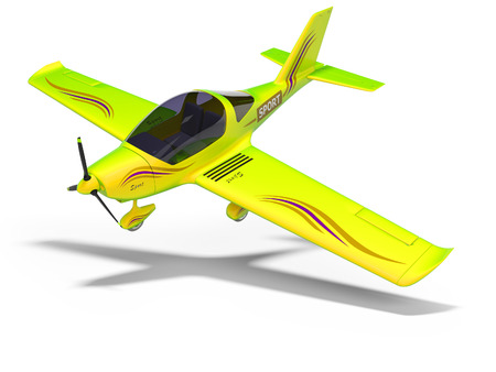 concept small flying salad for training pilots 3d renderer on white background with shadow Stock Photo