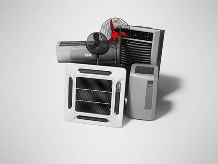 Group of equipment for cooling and air conditioning of the premises