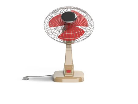 Fan for cooling with vertical blowing 3D render on white background with shadow