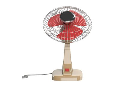 Fan for cooling with vertical blowing 3D render on white background no shadow