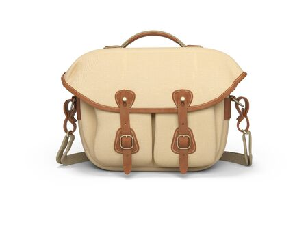 Bag for the camera 3d rendering on white background with shadow Zdjęcie Seryjne