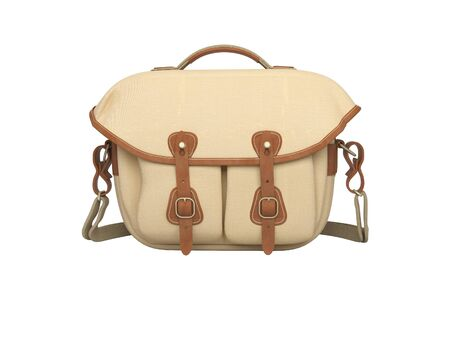 Bag for the camera 3d rendering on white background no shadow