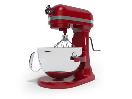 Mechanical blender for the kitchen 3d rendering on white background with shadow Standard-Bild - 133673628