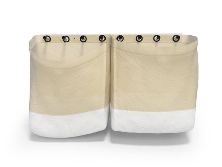 Clothes bag 3d rendering on white background with shadow