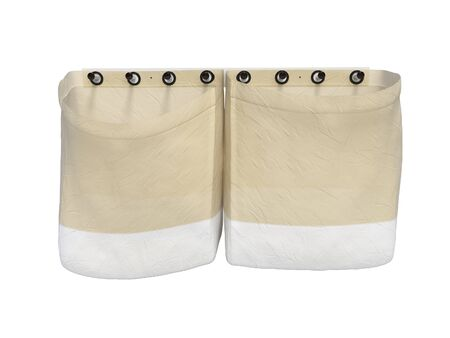 Clothes bag 3d rendering on white background no shadow