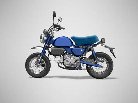 3d rendering blue motorcycle isolated on gray background with shadow Stock fotó
