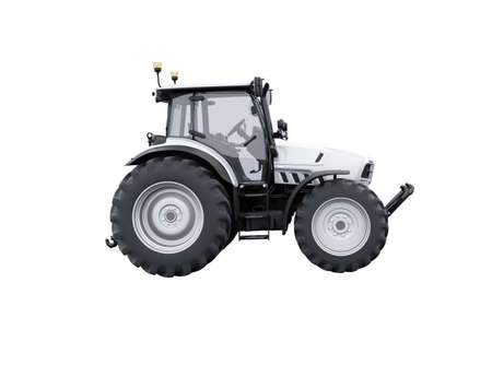 3d rendering tractor side view isolated on white background no shadow Stock fotó