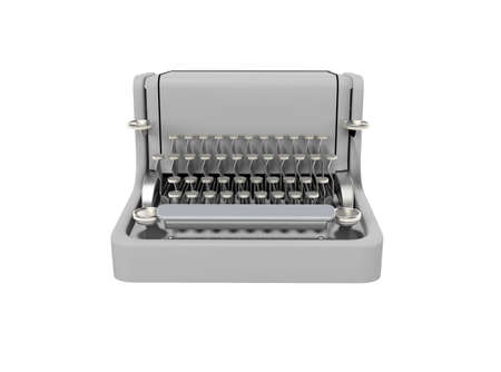 3d rendering of typewriter on white background no shadow Stock fotó