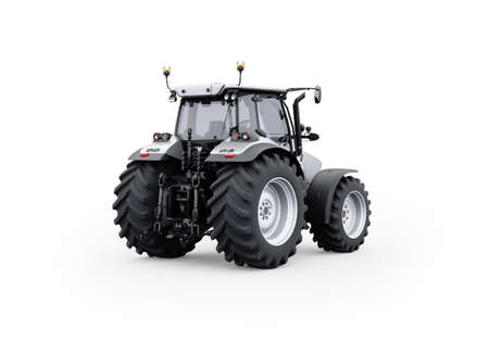3d rendering gray tractor isolated on white background with shadow