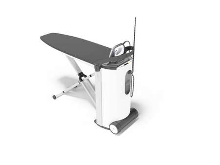 3d render steam ironing system illustration on white background with shadow