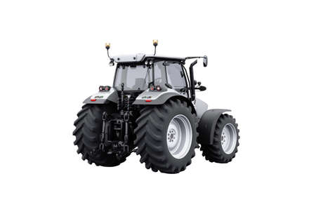 3d rendering gray tractor isolated on white background no shadow Imagens
