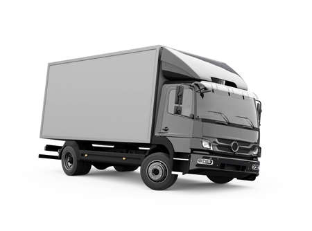 3d render truck up to five tons illustration on white background with shadow