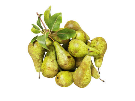3d rendering set of pears on white background no shadow Imagens