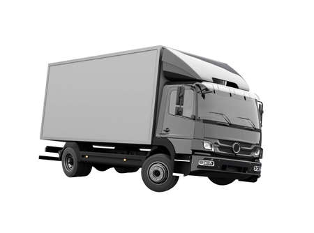 3d render truck up to five tons illustration on white background no shadow