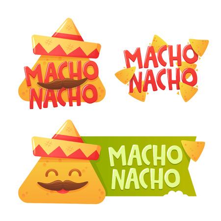 spicy mascot: Set label for Chips Nachos