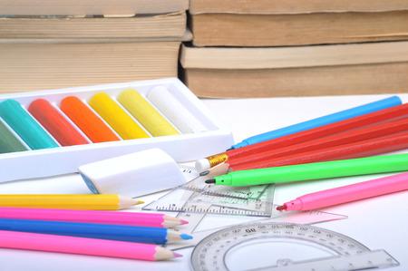 smearing: school supplies